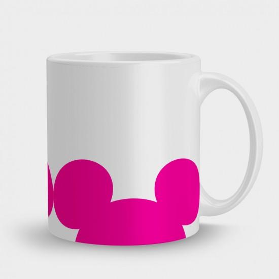 Кружка розовые уши Мини Маус