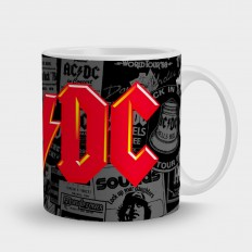 AC/DCлого на сером фоне