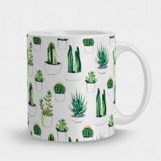 Кружка кактусы
