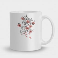 кружка ветка с цветами