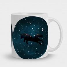 кружка волк зездное небо