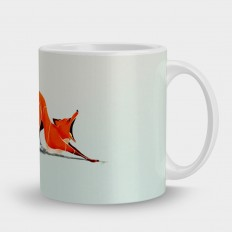 Кружка зевающая лиса