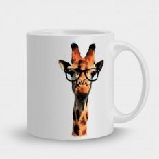 Кружка жираф в очках